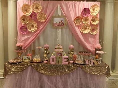 Gold And Pink Birthday Decorations wedding theme pink gold birthday ideas 2411518 weddbook