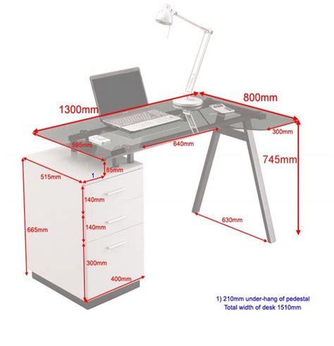 Computer Desk Dimensions Glass Computer Desks Glass Desks Home Office Furniture
