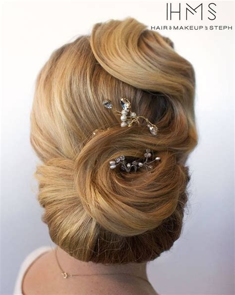 Wedding Hair Updo Vintage by Best 25 Vintage Updo Ideas On Vintage Bridal