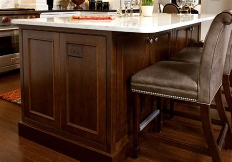 kitchen island overhang islands kabco kitchens