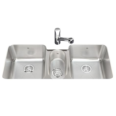 Kitchen Stainless Steel Sinks Undermount Shop Kindred 18 Basin Undermount Stainless Steel Kitchen Sink At Lowes
