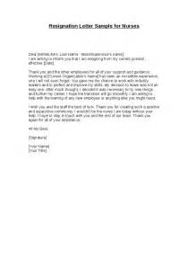 Resignation Letter Sles For Nurses by Resignation Letter Sle For Nurses Hashdoc
