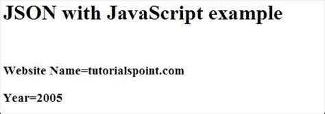 tutorialspoint json json quick guide