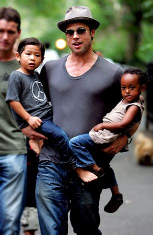 Pitt And Will Adopt Child Number Four by In Pictures Brad Pitt A Wonderful Of Six