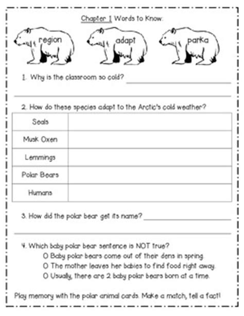 Magic School Bus Polar Bear Patrol Reading Response