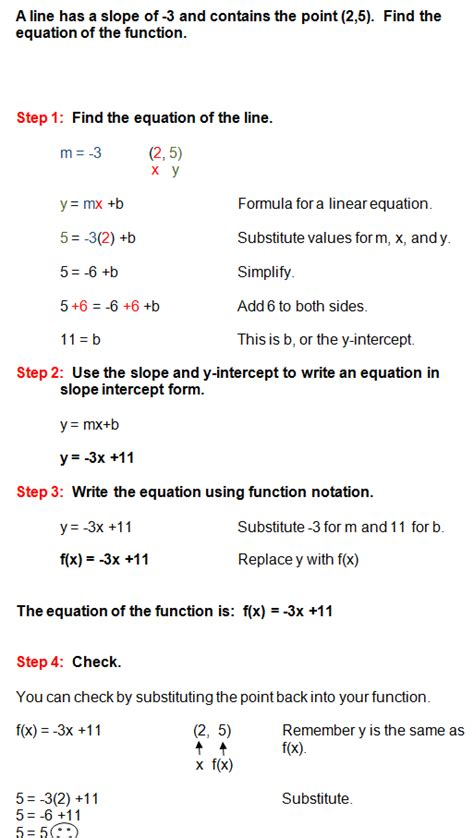 exle of linear function solving a linear function