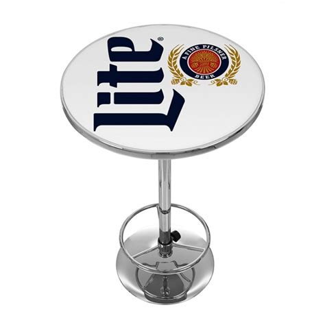 Miller Lite Bar Stools And Table by Miller Lite Classic Logo Bar Table