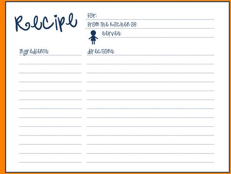 recipe card template word recipe template word images template design ideas