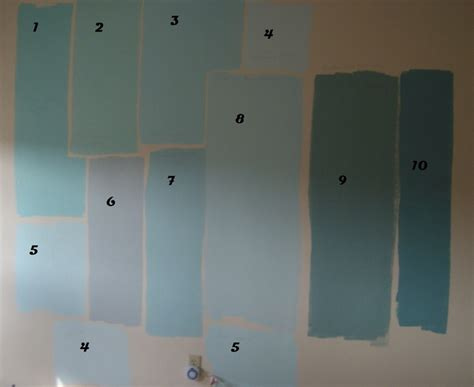 all colors are valspar painted from sle paint which is satin finish paint colors as follows
