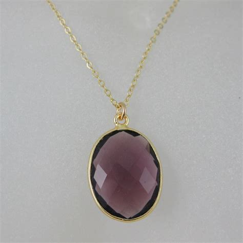 bezel jewelry bezel gemstone oval pendant necklace gold plated chain