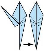 Origami Crane With Legs - origami crane