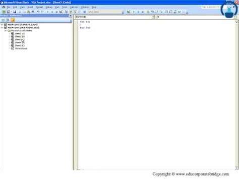 excel visual basic tutorial youtube visual basic editor vbe project explorer excel vba