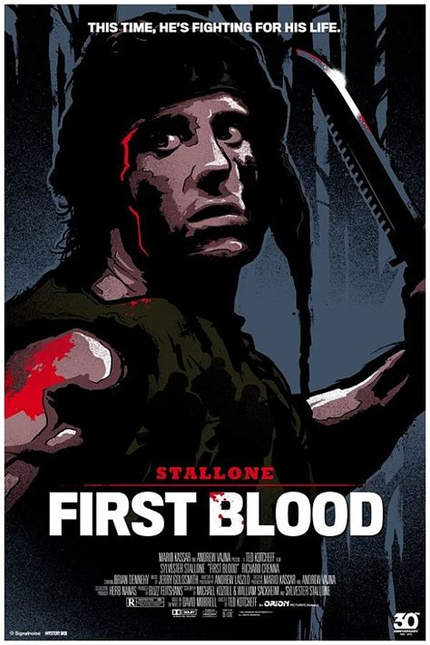 film rambo first blood first blood movie poster cinematic joy pinterest