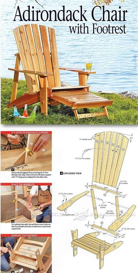 adirondack chair plans outdoor furniture plans