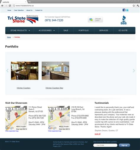 corporate website design and development for tri state