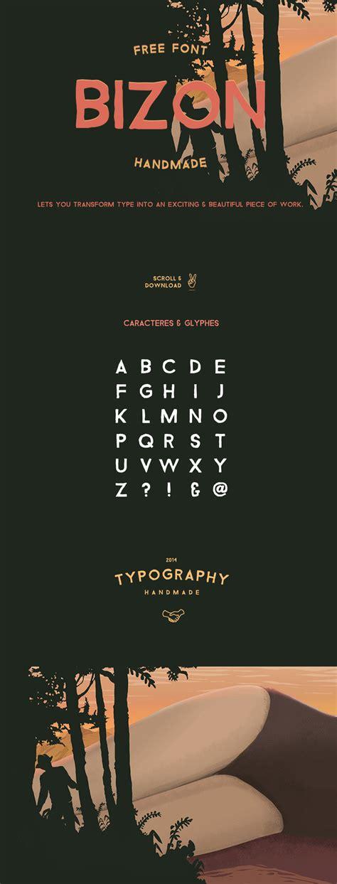 bizon free handmade typeface free design resources