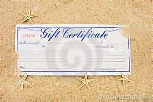 vacation gift certificate stock photography image 10988382