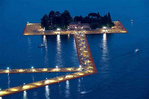 floating piers christo s floating piers rise like franciacorta bubbles