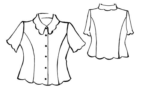 blouse pattern drawing chevron blouse
