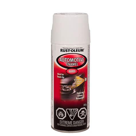 spray painter visa automotive enamel spray paint gloss white rona