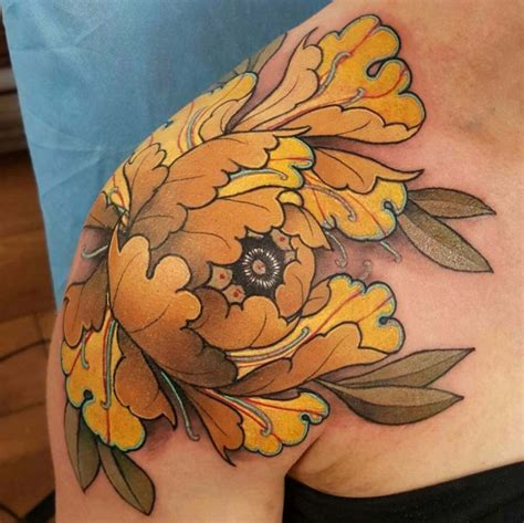 japanese flower shoulder tattoo best tattoo ideas gallery