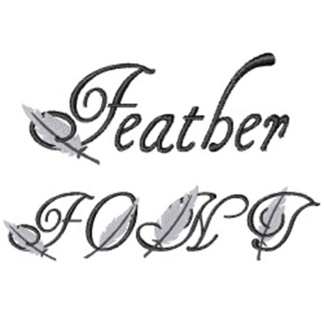 feather font embroidery font annthegran