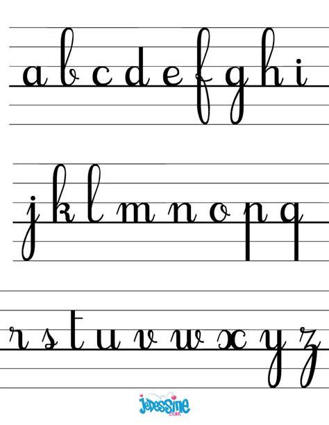 Comment Dessiner Les Lettres Cursives Minuscules Fr