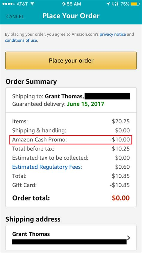 Amazon Apply Gift Card Balance To Order - reload your amazon gift card balance with amazon cash 10 promo credit