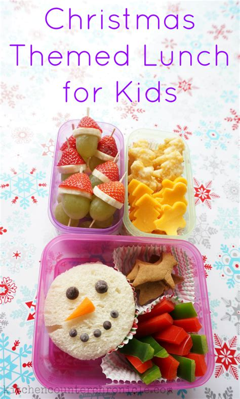 Christmas Themes Lunch | christmas themed lunch ideas for kids