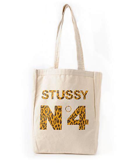 Tote Bag Stussy Skate stussy no 4 leopard print tote bag at zumiez pdp