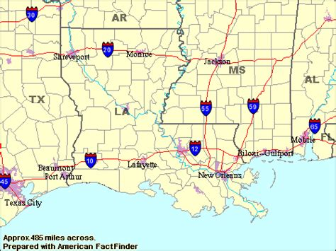 map of texas louisiana and mississippi about the usa gt travel gt the states territories