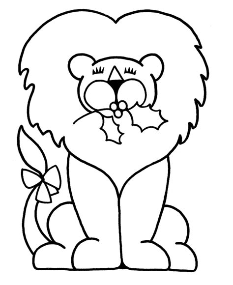 simple lion coloring page easy color pages coloring home