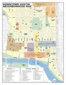 Austin District Map by Downtown Austin District Map Austin Tx Mappery