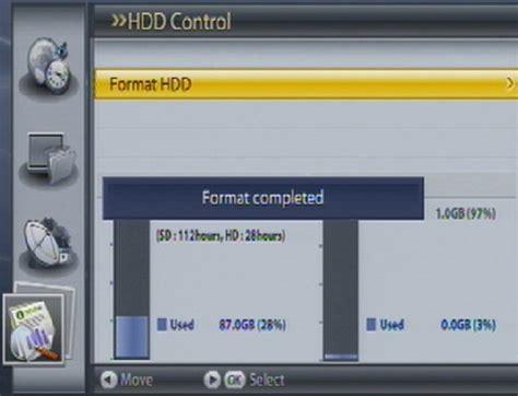 format hard drive for humax system menu on freesat