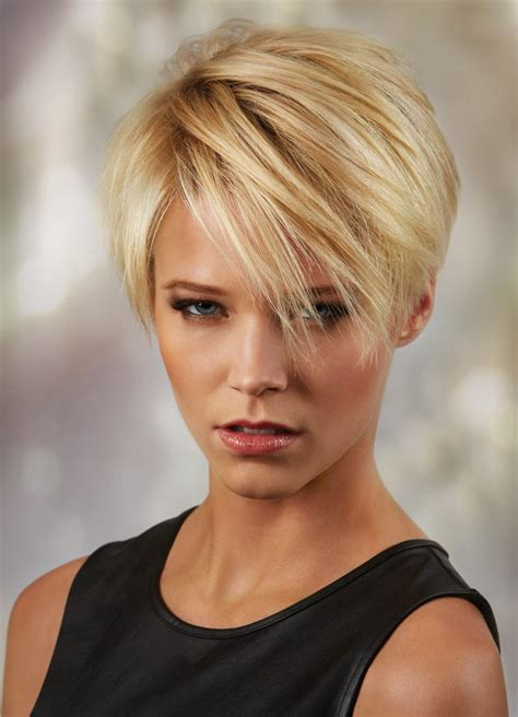 trendy hair styles for wigs synthetic hair straight short blonde wig short hair wigs p4