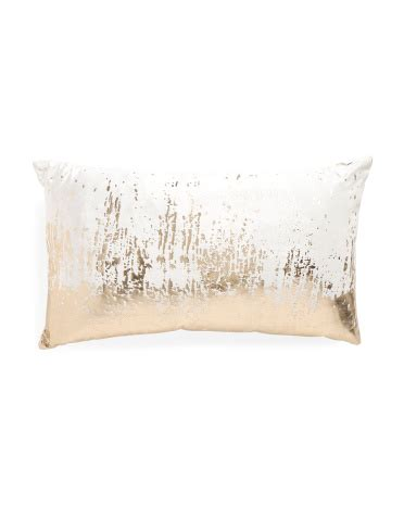 Tjmaxx Tjx Com Gift Card - 14x24 made in india gold foil pillow decorative pillows t j maxx