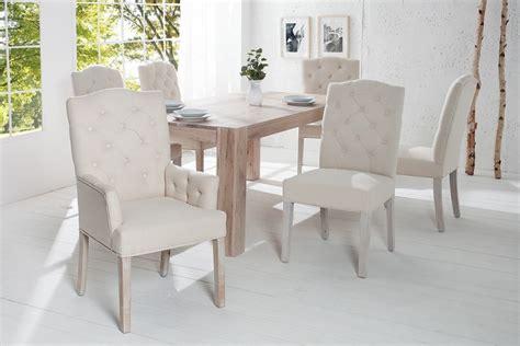 eleganter landhausstil eleganter stuhl castle beige mit chesterfield steppung im