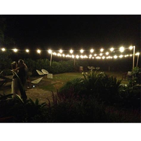 Bamboo Pole for Outdoor Lighting   Festoon Lighting