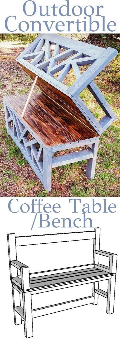 Diy Convertible Coffee Table Outdoor Convertible Bench Coffee Table Woodworking Plans Woodworking And Convertible