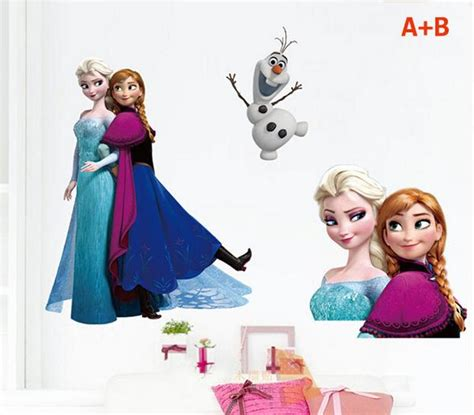 frozen removable wallpaper frozen removable wall stickers big size queen elsa olaf