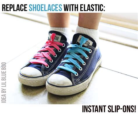 diy elastic shoelaces how to turn lace up shoes into slip