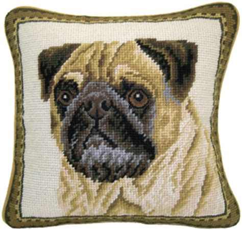 pug needlepoint small 10 quot needlepoint pug pillows and other unique pug gifts