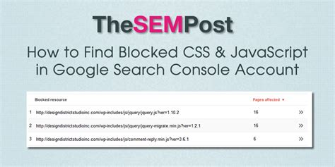 How To Find You Ve Blocked On How To Find Blocked Css Javascript In Search Console