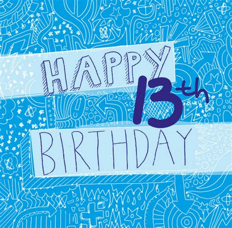 printable birthday cards 13 year old boy 80 outstanding and cute 13th birthday wishes birthday