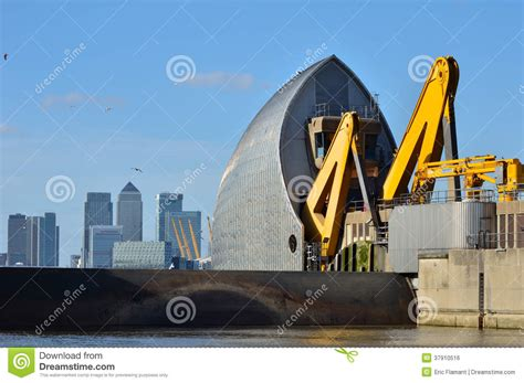 thames barrier animation thames barrier closed editorial photo image 37910516