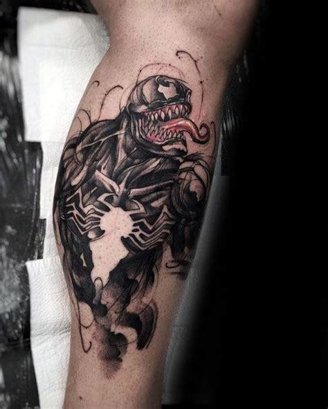 60 venom tattoo designs for men marvel ink ideas