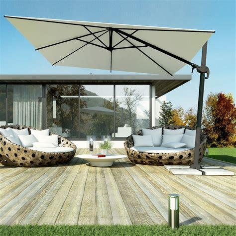ombrelloni da terrazzo rettangolari ombrellone giardino decentrato palo alluminio girevole 360