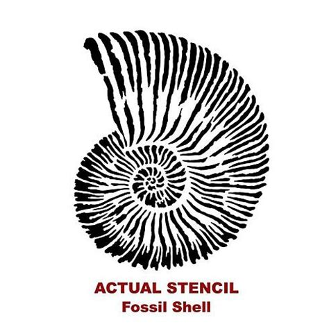 printable seashell stencils cutting edge stencils fossil shell wall art stencil
