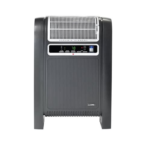 cabinet heater with thermostat shop lasko 1500 watt ceramic cabinet electric space heater