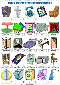 Kitchen Furniture Names English Vocabulary In My House Furniture By Educaci 243 N